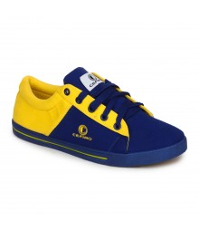 Cefiro Men Casual Shoes Fun07 Royal Blue Yellow CCS0031